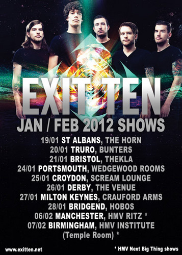 Exit Ten January February 2012 Tour Poster