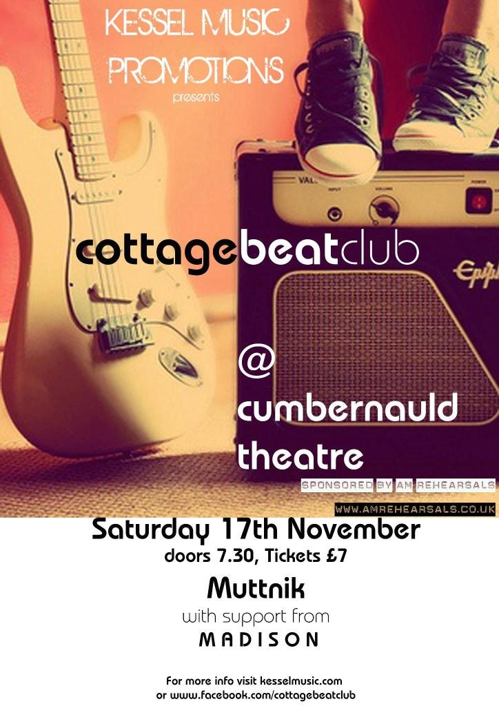 Muttnik Cottage Beat Club Gig Poster